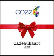 Cadeaukaart GOZZ 25